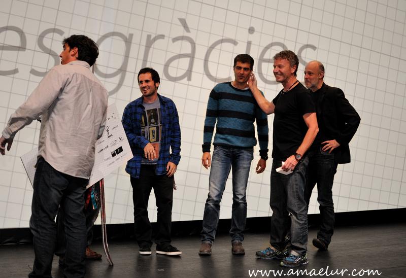 El jurado de skimetraje, buen equipo (Foto de Borja Villas, amaelur)