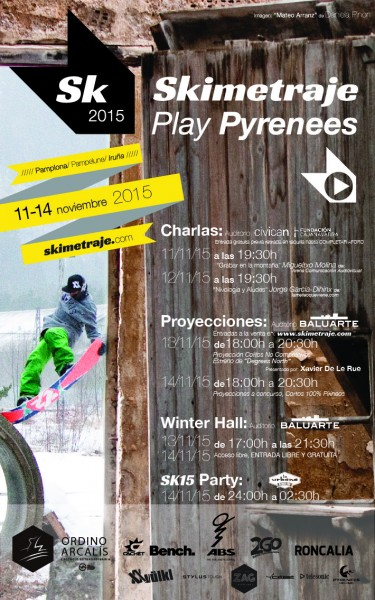 Cartel oficial de Skimetraje y Xavier De Le Rue…